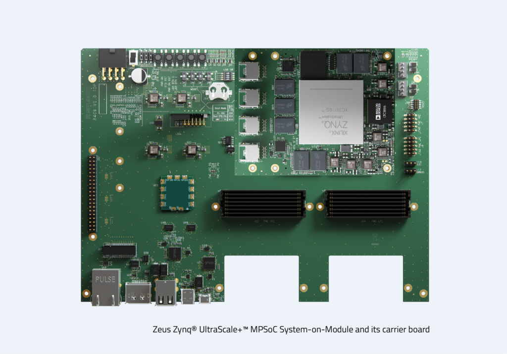 Image Zeus Zynq® UltraScale+™ MPSoC SoM Carrier Board